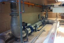 Water treatment station (installation of pipes for Grand Lyon)