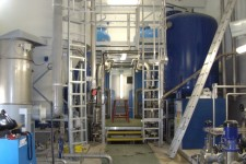 Water treatment station (tanks and pipes produced for Valthorens ski station)